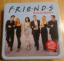 FRIENDS TRIVIA GAME BLUE TIN 2002 CARDINAL COMPLETE EXCELLENT CONDITION - $35.00
