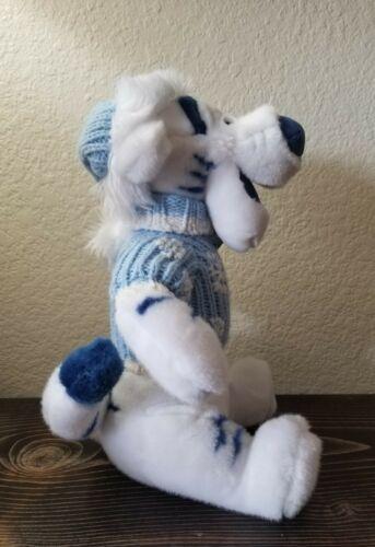 "TIGGER Disney Store Winnie the Pooh  White Plush Blue Sweater Christmas 13"" image 5"