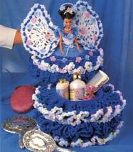 "3X Barbie 11-1/2"" Doll Angel Frills & Ruffles & Bows Trinket Box Crochet Pattern image 6"