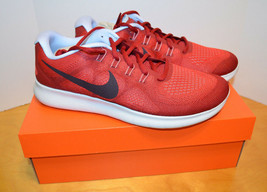NIKE MENS FREE RN 2017 RUNNING SHOES SIZE 10 UNIVERSITY RED PORT WINE NI... - $63.84