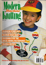 Modern Machine Knitting May 1990 Magazine Pandas & Intarsia Frog designs - $7.12