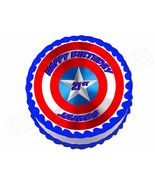 Captain America Shield Avengers edible party cake topper decoration imag... - $8.98+