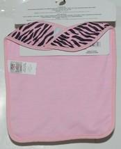 Baby Ganz Girl Pink Black Zebra Pattern Pacifier Clip Matching Bib Gift Set image 2