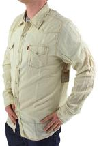 NEW LEVI'S MEN'S LINEN LONG SLEEVE BUTTON UP CASUAL DRESS SHIRT BEIGE 8151400 image 4