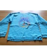 Youth Girls Size XL Hanes Turquoise Wolf Head Sweatshirt Sweat Shirt Top... - $10.00