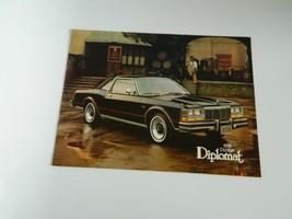1978 Dodge Diplomat Original US Sales Brochure - $7.99