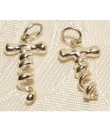 Corkscrew sterling silver charm . STAMPED .925 Cork Screw Wine Bottle charm - $5.98