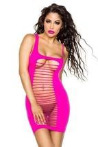 Babydoll Body mini abito top Negligé RITAGLI MAGLIA biancheria notte lingerie - $22.42