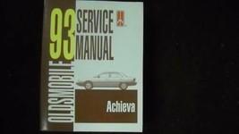 1993 Oldsmobile Achieva Service Shop Reparatur Werkstatt Manuell OEM - $9.80