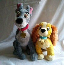 "Disney Store Lady and the Tramp Plush Dog Set 16"" High 11"" High - $19.80"