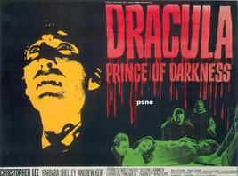 Christopher Lee  Barbara Shelley  Dracula Prince of Darkness Classic Movie T Shi - $21.95
