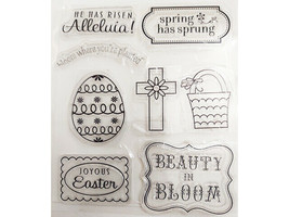 Easter Clear Stamp Set, Sentiments, Eggs, Basket and More