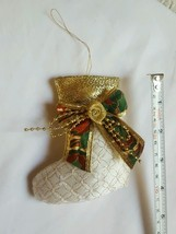 Boot Pillow Christmas Tree Ornament • Pre-owned • Vintage • Nice Condition - $7.03