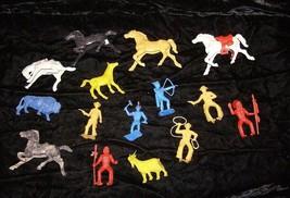 Western Cowboy & Indians Play Set Figures Vintage mpc marx horse bucking... - $16.99