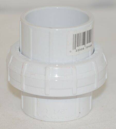 Lasco 457015 Schedule 40 PVC Oring Union Socket White One And Half Inch