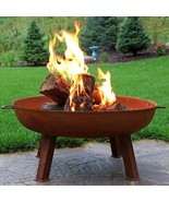 "34"" Cast Iron Fire Pit Bowl with Stand - Rustic Finish - $325.00"