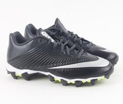 NIKE Vapor Shark 2 Football Cleat Black Silver White 833391-002 Men's 10... - $27.95