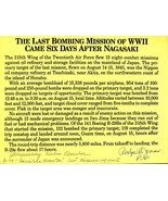 Last Mission of WWII signed story by pilot & radioman. Six days after Na... - $22.95