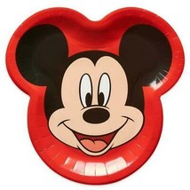 Mickey Mouse Face Shaped Lunch Plates Birthday Party Supplies 8 Per Package - $4.84