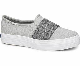 Keds WF58505 Women's Shoes Triple Bandeau Jersey Lt Gray, 7.5 Med - $39.55