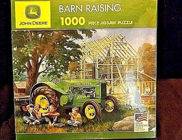 John Deere Jigsaw Puzzle Barn Raising 1000 piece 2006 AA18-JD0023