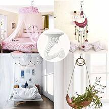 10 Sets Ceiling Hooks - Heavy Duty Swag Hook with Hardware for Hanging Plants Ce image 7