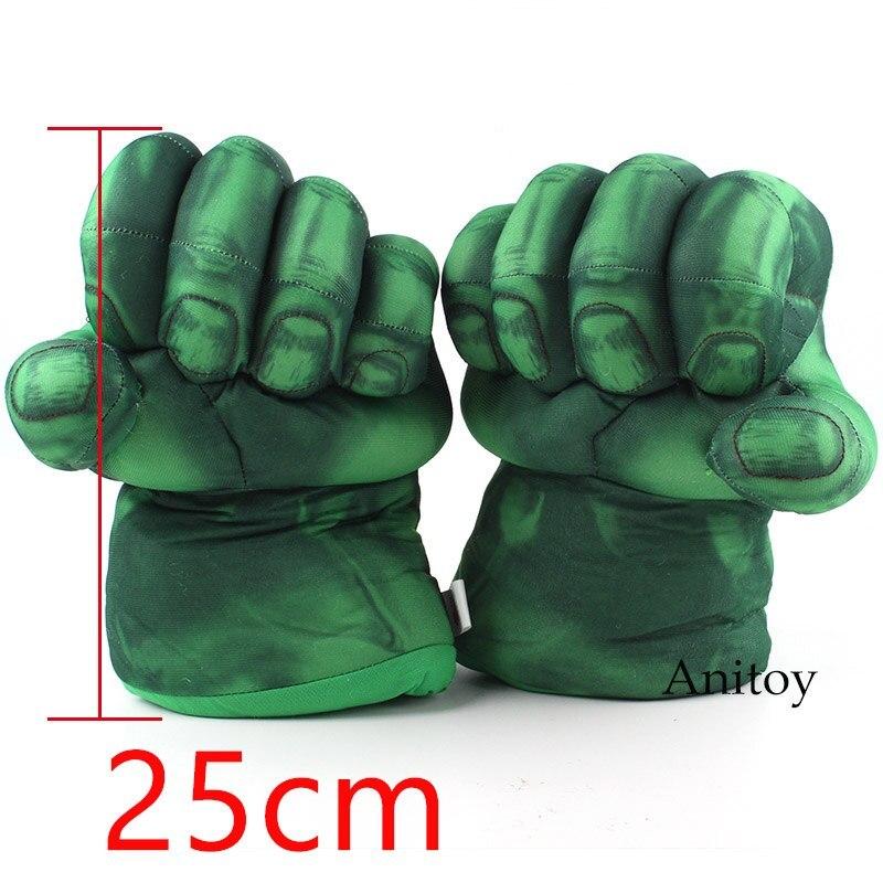 The Incredible Hulk Gloves Plush Toy Superhero Marvel Toys Hulk Cosplay Christma