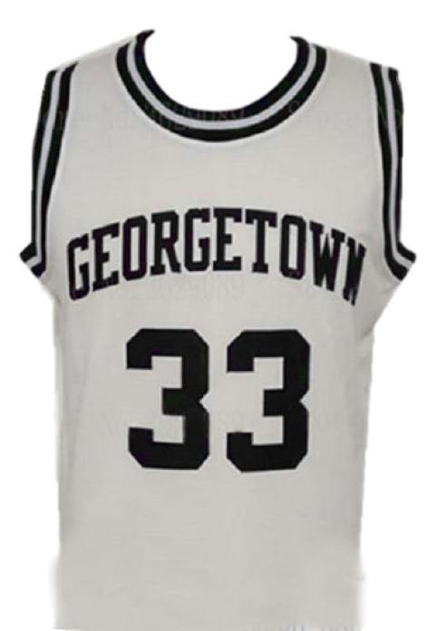 Patrick ewing college basketball jersey white   1