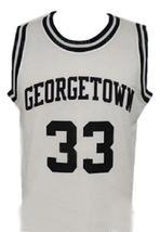 Patrick Ewing #33 College Basketball Jersey Sewn White Any Size image 1