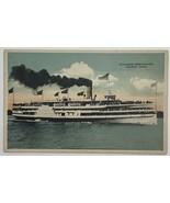 Old Postcard White Star Line Steamboat Steamer Greyhound Toledo, Ohio - $14.65
