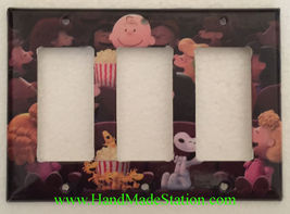 Peanuts Snoopy friends movie theater Light Switch Power Outlet wall Cover Plate image 7