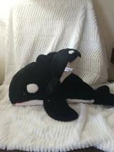 "Sea World Shamu Orca Killer Whale 21"" Plush With Baby Ocean Nautical Sou... - $24.99"