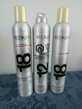 Mixed Lot 3 Cans  Redken Fashion Work 12 Quick Dry 18 Hairspray  - $34.65