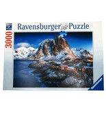 Ravensburger Hamnoy Lofoten Norway 3000 Pc Jigsaw Puzzle Mountains Fishi... - $74.24