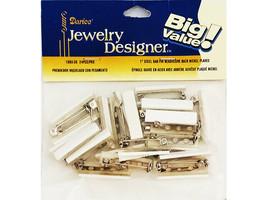 "Darice Jewelry Designer Big Value 1"" Steel Bar Pin with Adhesive Back"