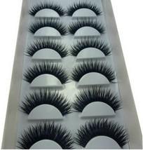 Long and Thick Eyelashes Smoky Eyes False Eyelashes BLUE & BLACK Style 6 Pairs image 2