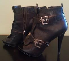 Pre Owned Women's Nine West-Nwarivaderci Black 71/2 Boot Shoe - $37.62