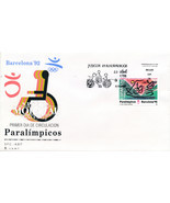 1992 Spain  Sc 2674 Paralympic Games Sport FDC Nice  (Scott)  - £0.71 GBP