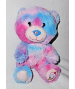 Build a Bear Smallfry Bubblegum Ice Cream Plush Stuffed Animal Pink Blue  - $20.87