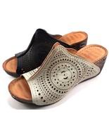 Bonavi /La Pinta Europe-07 411-313 Leather Wedge Slip On Sandals Choose ... - $111.20