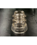 VINTAGE RAILROAD WHITALL TATUM NO 1 GLASS  INSULATOR MADE IN THE USA - $5.00