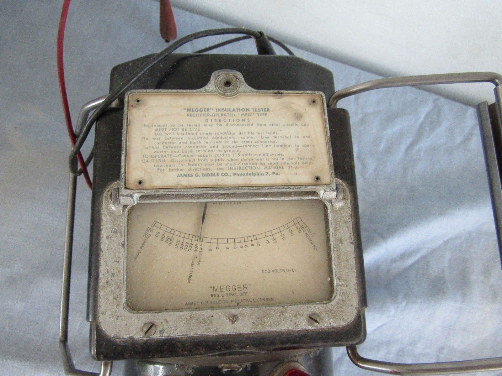 Vintage James G Biddle Megger Meg Type And 50 Similar Items