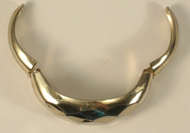 Coro Pegasus Gold Colored Metal Faceted and Hinged Cuff Bracelet - $18.00