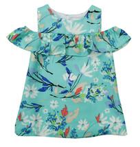 RARE EDITIONS NEW INFANT GIRLS 2PC BLUE FLORAL SHIRT DRESS 24M - $14.84
