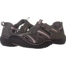 JSport by Jambu Regatta Sport Sandals 723, Dark Gray Peony, 7 US - $29.75