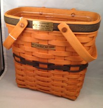 Longaberger 1997 Collectors Club Charter Membership Basket w/Protector  - $34.30