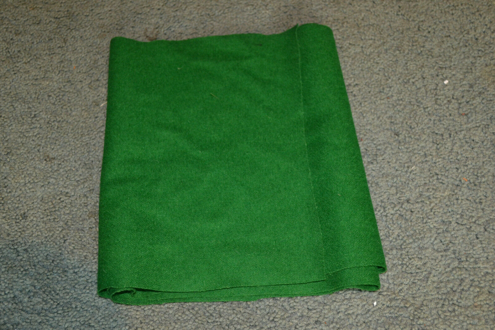 "vtg Fabric Remnant Craft Felt Green Lamp base Figurine  NOS 68"" long x 11"" wide"