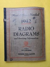 Vintage Beitman Radio and TV Diagrams Manual, Most Often Needed, 1942 Vo... - $14.50