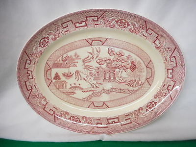 Primary image for Homer Laughlin Red Willow Oval Platter 13.5""