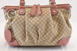 GUCCI GG Canvas 2Way Shoulder Bag Pink Auth sa1578 - $520.00